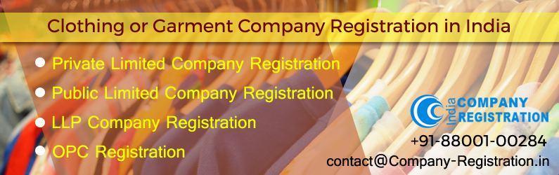 Clothing or Garment Company Registration